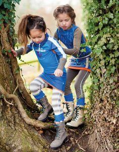 The blue collection of Ninni Vi! #Dress #blue #Legging #Print #Boots #Socks