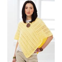 A knitted poncho pattern is a wonderful way to create a warm, functional garment without dealing with the hassles of a knit sweater pattern. Check out our soft and stylish collection of knitted poncho patterns. Poncho Knitting Patterns, Knitted Poncho, Lace Knitting, Knit Patterns, Knit Or Crochet, Crochet Shawl, Crochet Vests, Crochet Cape, Knit Shawls