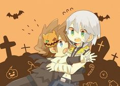 Halloween is too scary for chibi Sora