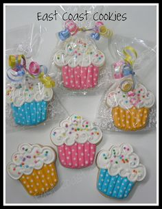 Cupcake Cookies by East Coast Cookies, via Flickr
