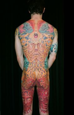 some things Correct me if I am wrong, but this looks like an Alex Grey inspired tattoo. Alex Grey Alex Grey has been an in. Alex Grey Tattoo, Gray Tattoo, Full Body Tattoo, Body Tattoos, Music Tattoos, Tatoos, Tool Tattoo, I Tattoo, Alex Gray Art