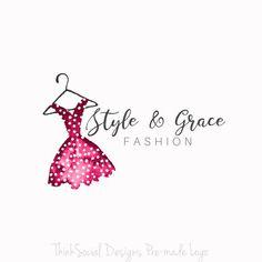 Logo Clothes, Clothing Logo, Blogger Logo, Hanger Logo, Dress Logo, Logo Face, Fashion Logo Design, Boutique Logo, Shop Logo