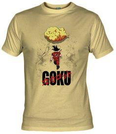 """Camiseta con Goku y su nube voladora basado en el poster de la película de anime """"Akira"""""""