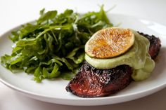 Brown Sugar Chili Rubbed Salmon with Avocado Crema   Can You Stay For Dinner?