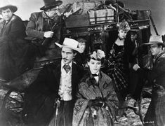 Andy Devine Still of John Wayne, John Carradine, George Bancroft, Andy Devine, Donald Meek and Claire Trevor in Stagecoach Stagecoach 1939, Andy Devine, Claire Trevor, John Carradine, John Wayne Movies, Movie Club, John Ford, Jessie James, Actor John