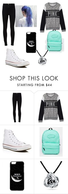 """""""Another day at school"""" by katerinatugulea ❤ liked on Polyvore featuring Frame Denim, Victoria's Secret, Converse, Vans and Bling Jewelry"""