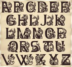 Kaufen Sie dieses Hi-res Stock Vektor mit alphabet, mittelalter, letter. Einzel-Download kaufen oder bis 90% sparen mit einem Abo.