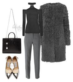 """""""Pure Business"""" by lov3story on Polyvore featuring Mode, L.K.Bennett, DKNY, Jimmy Choo, Yves Saint Laurent, women's clothing, women's fashion, women, female und woman"""
