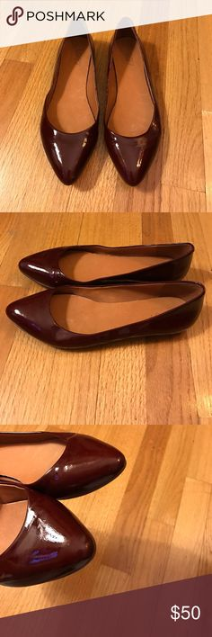 Madewell maroon patent leather skimmers! Madewell maroon patent leather skimmers! Excellent condition no wear to leather or toes. Madewell Shoes Flats & Loafers