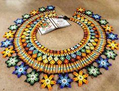 No photo description available. Beard Jewelry, Baby Krishna, Beaded Necklace, Beaded Bracelets, Bead Loom Patterns, Loom Beading, Earrings Handmade, Jewelery, Jewelry Making