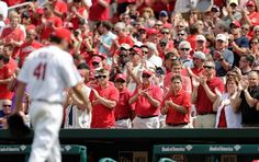 St. Louis Cardinals Team Photos - ESPN Fans applaud as St. Louis Cardinals starting pitcher John Lackey leaves a baseball game against the Chicago Cubs during the eighth inning Thursday, May 7, 2015, in St. Louis. The Cardinals won 5-1. (AP Photo/Jeff Roberson)