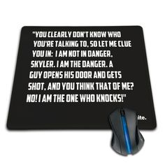 Babaite Breaking Bad Walter White Quotes Black Durable Rubber Computer Gaming Mouse Pad Notebook Computer Gaming Mouse Pad