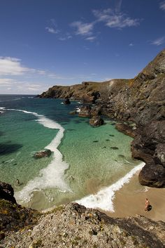 Kynance Cove in Cornwall, England  -- great day for a swim...