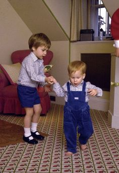 October 22, 1985: Prince Harry in the playroom of Kensington Palace.