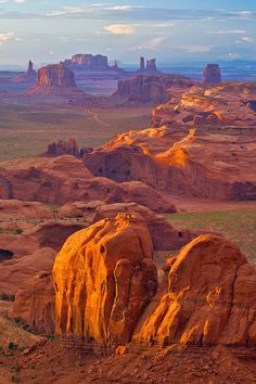 Overlooking Monument Valley From Hunt's Mesa, Arizona, USA... Beautiful!