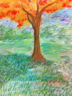 Water color mixed media with chalk pastel