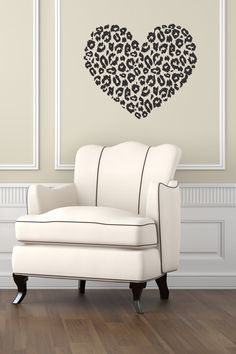 Vinyl Decal Heart With Leopard Cheetah Dots Wall Art by DecalHouse, $24.65