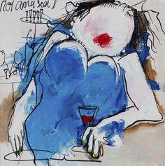 Gerdine Duijsens Not Amused, 2012  40 × 40 in 101.6 × 101.6 cm