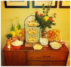 Engagement Party - Yellow & Orange color theme