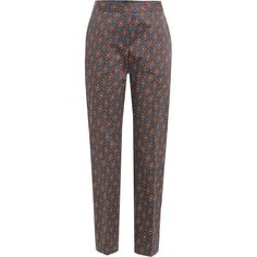 Burberry London Printed Cotton Pants ($555) ❤ liked on Polyvore featuring pants, bottoms, trousers, multicolor, cotton pants, multi colored pants, colorful pants, straight leg trousers and burberry