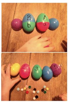 good idea for teaching upper and lowercase letters.