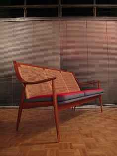 Peter Hvidt and Orla Mølgaard-Nielsen; Teak and Cane Sofa for France & Son, 1950s.