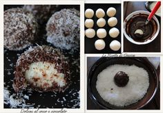 Palline al cocco e cioccolato Ricetta dolcini Senza cottura veloci e facili Cakes Without Butter, Delicious Desserts, Yummy Food, Italian Desserts, Biscuit Cookies, Cookie Bars, Nutella, Finger Foods, Food And Drink