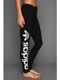adidas Originals Trefoil Legging Black/White - Zappos.com Free Shipping BOTH Ways