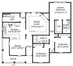 68fb48bf7c95380d8a0d44e247fd28b5--traditional-house-floor-plans House Plans With The Garage On Side Sq Ft on