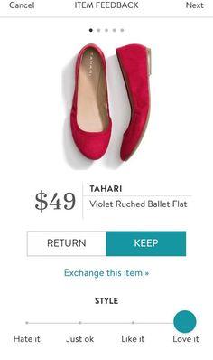 Tahari Violet Ruched Ballet Flat from Stitch Fix. https://www.stitchfix.com/referral4292370