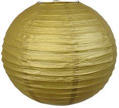 """20"""" Gold Paper Lantern - $3.96 - Just Artifacts"""