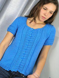 Ravelry: Azure Cardie pattern by Hélène Rush