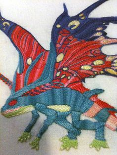 World of Warcraft sprite darter embroidery.