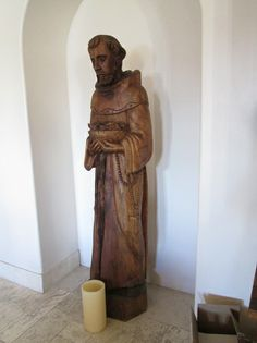 This statue of St. Francis in the lobby of Santa Fe's Hotel St. Francis was carved from one piece of wood. #ArtisticNM