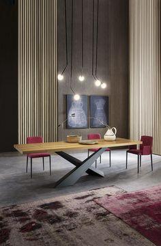 Mesa de comedor rectangular LIVING by RIFLESSI