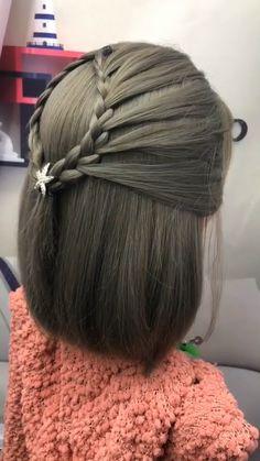 Hair Tutorials For Medium Hair, Easy Hairstyles For Medium Hair, Braids For Short Hair, Braided Hairstyles, Life Hacks Hair, Hair Style Vedio, Girl Hair Dos, Hair Upstyles, Long Hair Video