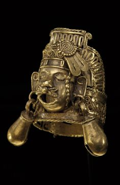 Finger Ring Depicting Xipe Totec, Mexico, Oaxaca, AD 1000-1500, probably Mixtec. Gold. National Museum of the American Indian, Smithsonian Institution, Washington, D.C., Heye Foundations.