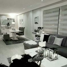 Formal Living Room Design Ideas (Pictures) You Won't Miss - WellBeingGuide Living Room Grey, Formal Living Rooms, Living Room Interior, Home Living Room, Apartment Living, Home Interior Design, Living Room Decor, Cozy Apartment, Dining Room Design