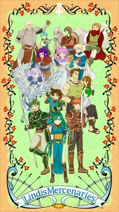 The characters of Lyn's tale. Fire Emblem Blazing Sword I love this game!