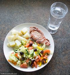 Healthy eating - a day of Weight Watchers meals.