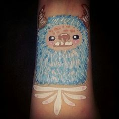 Fuzzy #Yeti! Design by Critterosity. Face paint face painting body art painter