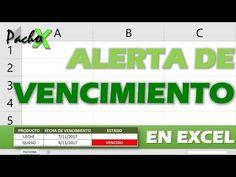 Cómo crear una ALERTA DE VENCIMIENTO para tu inventario en Excel - YouTube Microsoft Excel, Microsoft Office, Y Words, Information Technology, 3 D, Software, Web Design, Internet, Motivation