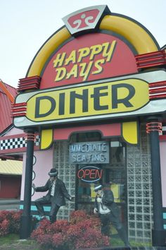 Happy Days Diner on the parkway in Pigeon Forge