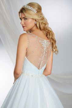 Cinderella Inspired Princess Wedding Dress - 2015 Disney's Fairy Tale Weddings by Alfred Angelo