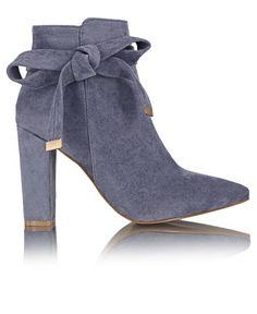 Ankle Boots - Blue Block Heels, Ankle Boots, Booty, Female, Blue, Shoes, Fashion, Ankle Booties, Moda
