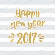Happy New Year 2017 SVG DXF png pdf jpg ai by BlueDolphinCreative