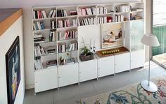 Pure White Bookcase Design For Living Room 1024x650 Stylish Bookcase Design For Your Living Room