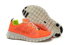 super popular 36b41 be26b 2014 New Nike Free Powerlines II Womens Shoes Orange Sneakers Nike, Orange  Sneakers, Nike