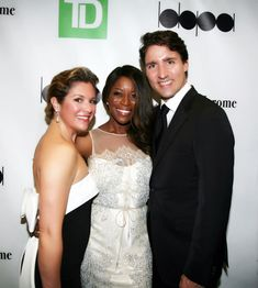 TV Host & Author of Single Girl Problems Andrea Bain with Prime Minister Justin Trudeau
