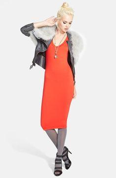 Tildon Double Layer V-Neck Midi Dress | Nordstrom